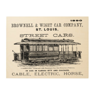 Brownell Car Company 1890 Wood Wall Art