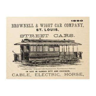 Brownell Car Company 1890 Wood Wall Art