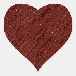 Brownian Speck Print Heart Sticker