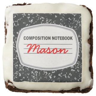Brownie adaptables del cuaderno de la composición