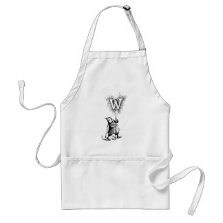 Brownie and Letter W Adult Apron