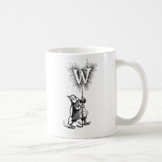 Brownie and Letter W Coffee Mug