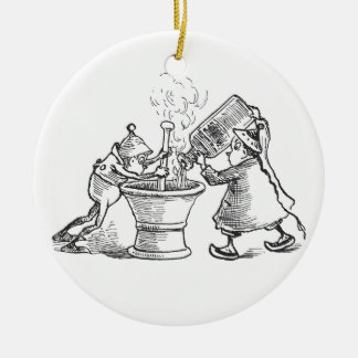 Brownie Apothecaries Double-Sided Ceramic Round Christmas Ornament