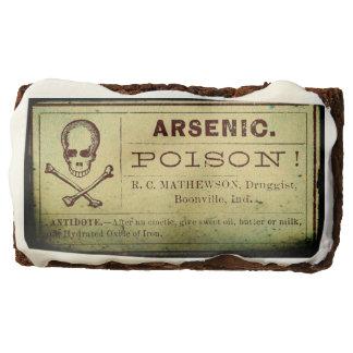 Brownie arsénicos de la etiqueta del vintage