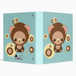 brownie bear 3 ring binder