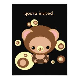 "brownie bear 4.25"" x 5.5"" invitation card"