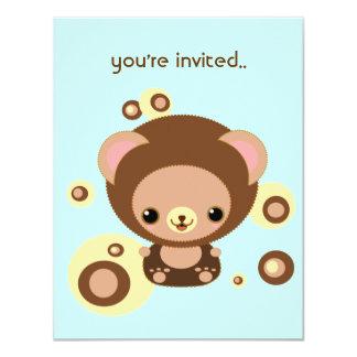 brownie bear 4.25x5.5 paper invitation card
