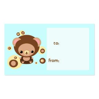 brownie bear business card