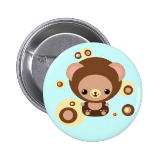 brownie bear button