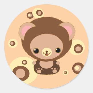 brownie bear classic round sticker