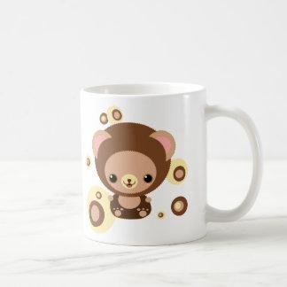 brownie bear classic white coffee mug