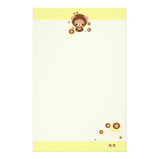 brownie bear stationery