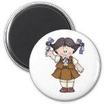 Brownie Black Hair Refrigerator Magnet