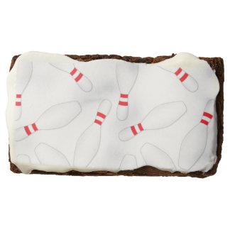 brownie blancos de los pernos de bolos