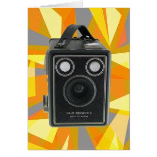 Brownie C vintage camera Card