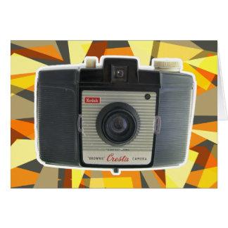 Brownie Cresta vintage camera Card