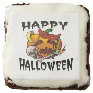 Brownie de la calabaza del fiesta de Halloween