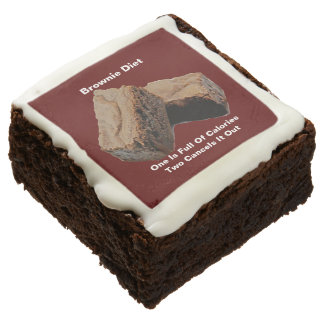 Brownie de la dieta 2 x 2 del brownie