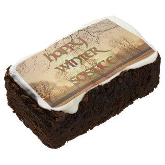 Brownie de Sun del invierno para los fiestas del