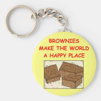 brownie del brownie llavero redondo tipo pin