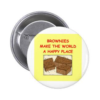 brownie del brownie pin redondo de 2 pulgadas