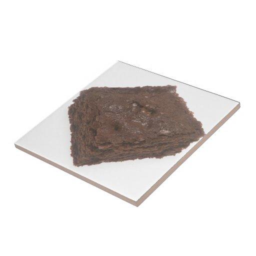 Brownie del chocolate azulejos