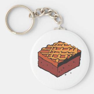 brownie del chocolate llaveros