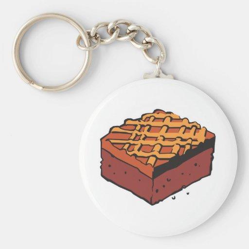brownie del chocolate llavero redondo tipo pin