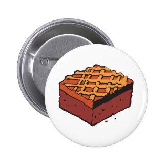 brownie del chocolate pin redondo de 2 pulgadas