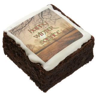 Brownie del fiesta del solsticio de invierno: