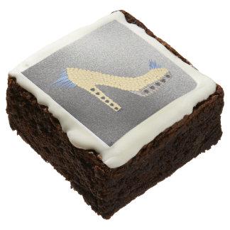Brownie deliciosos de los talones claveteados de