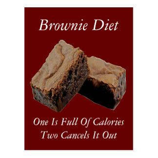 Brownie Diet Card Postcard