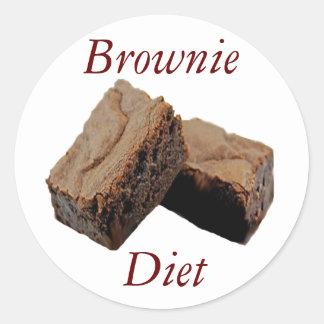 Brownie Diet Classic Round Sticker
