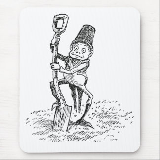 Brownie Digging with Spade Mouse Pad