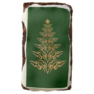 Brownie elegantes del árbol de navidad