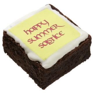 Brownie felices del fiesta del solsticio de verano
