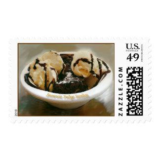 brownie fudge sundae postage