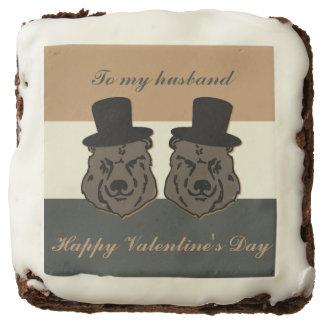 Brownie gay de la tarjeta del día de San Valentín
