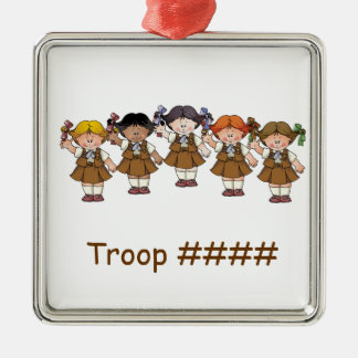 Brownie Group Square Metal Christmas Ornament