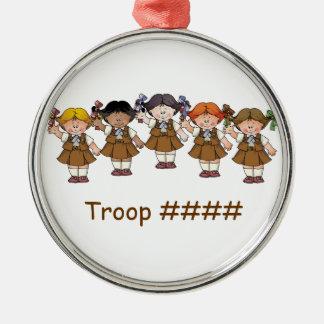 Brownie Group Round Metal Christmas Ornament