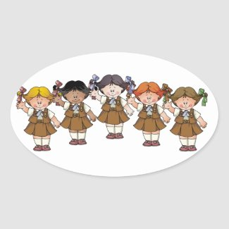 Brownie Group Oval Sticker