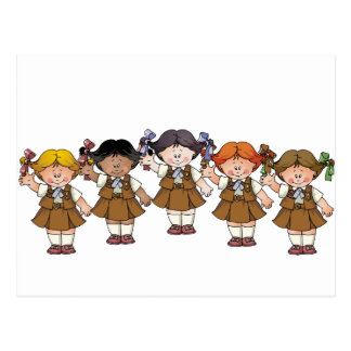 Brownie Group Postcard