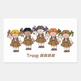 Brownie Group Rectangular Sticker