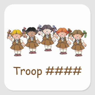 Brownie Group Square Sticker