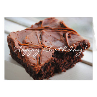 Brownie Happy Birthday Card
