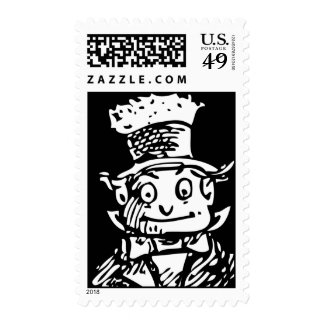Brownie Hobo Postage Stamp