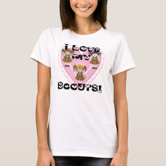Brownie I Love My Scouts Hearts T-Shirt