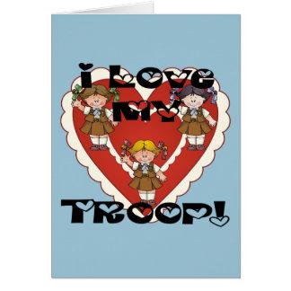 Brownie I Love My Troop Heart Card