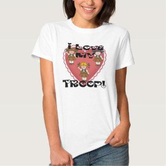 Brownie I Love My Troop Hearts Shirt