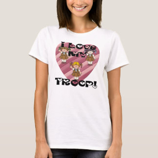 Brownie I Love My Troop Hearts T-Shirt